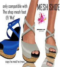 Mesh Shoes For The Shop Mesh Foot by Miss LT - Teleport Hub - teleporthub.com