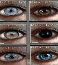 15 Mesh Eyes and 19 Normal Eyes Group Gift by REAL EYES - Teleport Hub - teleporthub.com