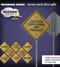 Warning Signs Burner Pack by Weather! or not? - Teleport Hub - teleporthub.com
