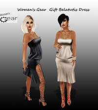 Belatutis Dress Black and Bronze by Women's Gear - Teleport Hub - teleporthub.com