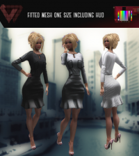 Anediya Fitted Mesh Dress 100L Promo by ILLI - Teleport Hub - teleporthub.com