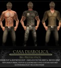Men Outfit Fat Pack Plus Tattoo Promo Gift by Casa Diabolica - Teleport Hub - teleporthub.com