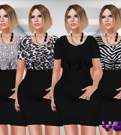 Back to Black Mesh Dress Fat Pack by voxxi - Teleport Hub - teleporthub.com
