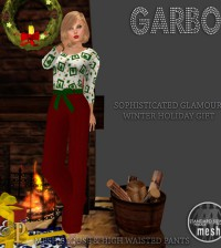 Garbo Blouse & Pants Wearable Demo Gift by Prim & Pixel - Teleport Hub - teleporthub.com