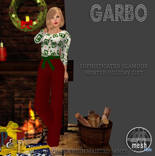 Garbo Blouse & Pants Wearable Demo Gift by Prim & Pixel