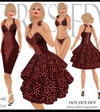 Dot, Dot, Dot Dress April 2014 Group Gift by Dressed by Lexi - Teleport Hub - teleporthub.com