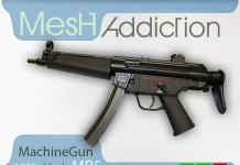 Mesh MP5 Machine Gun by MeshAddiction - Teleport Hub - teleporthub.com