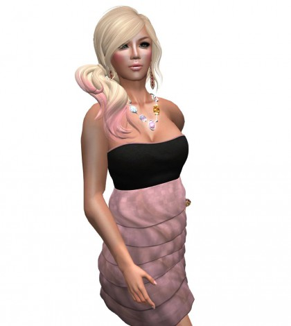 Grammy Ruffle Dress Pink Free Gift by Fabouzz - Teleport Hub - teleporthub.com
