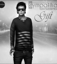 Seba Sweater Black for Men Group Gift by Sympatika - Teleport Hub - teleporthub.com