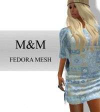 Fedora Mesh Dress Group Gift by M&M - Teleport Hub - teleporthub.com