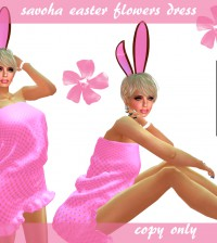 Savoha Easter Flowers Dress 1L Promo by Savoha Creations - Teleport Hub - teleporthub.com