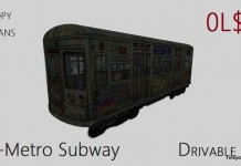 Driveable V-Metro Subway Train With Passengers by SakasVille Creations - Teleport Hub - teleporthub.com