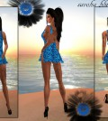 Blue Sequin Dress 1L Promo by Savoha Creations - Teleport Hub - teleporthub.com