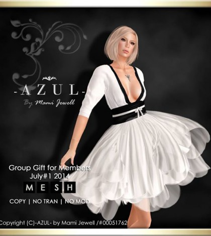 Casual White Dress July 2014 Group Gift by -AZUL- - Teleport Hub - teleporthub.com