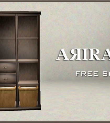 Shelf and Baskets by ARIRA - Teleport Hub - teleporthub.com
