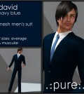 David Navy Blue Men's Suit 10L Promo by pure - Teleport Hub - teleporthub.com