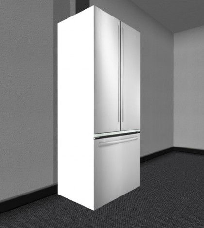 Stainless Steal Fridge with Open Door by Vienna Designs - Teleport Hub - teleporthub.com