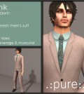 Beige Men's Suit 10L Promo by pure - Teleport Hub - teleporthub.com