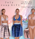 3 Red White Blue Bikinis and Skirts July 2014 Group Gift by Prism Designs - Teleport Hub - teleporthub.com