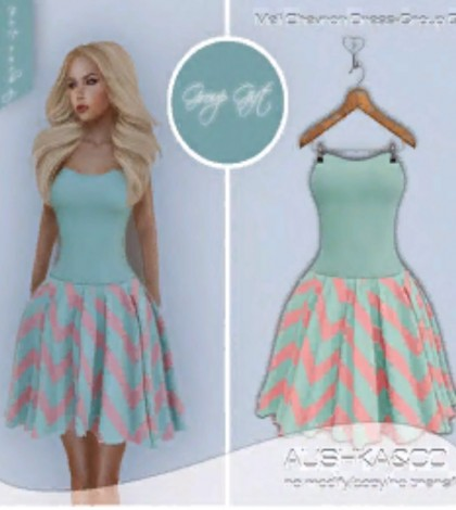 Meli Chevron Dress Group Gift by AUSHKA&CO - Teleport Hub - teleporthub.com