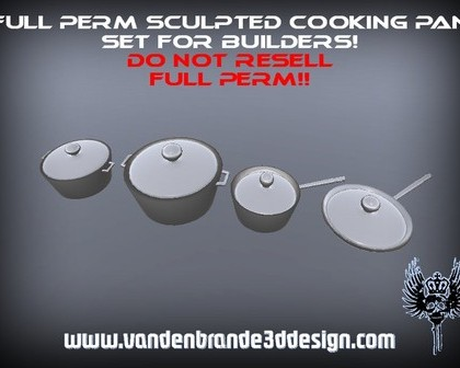 Sculpted Cooking Pan Set For Creators - Teleport Hub - teleporthub.com