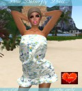 Blue Butterfly Dress by Savoha Creations - Teleport Hub - teleporthub.com