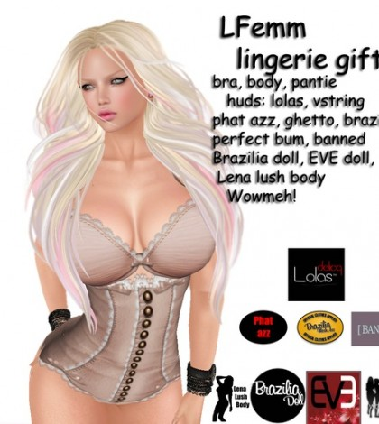 LFemm lingerie with Appliers by AVD Creations - Teleport Hub - teleporthub.com