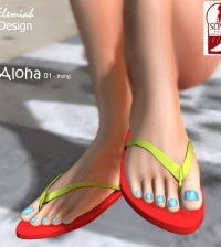 Aloha Flipflop For Slink Feet 50L Limited Time Promo by Elemiah Design - Teleport Hub - teleporthub.com