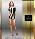 Zebra Dress Group Gift by Tiffany Designs - Teleport Hub - teleporthub.com