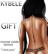 Morse Code Tattoo I love you by KYBELE - Teleport Hub - teleporthub.com