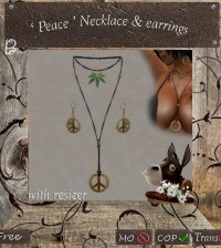 Peace Necklace & Earrings by BricOle's - Teleport Hub - teleporthub.com