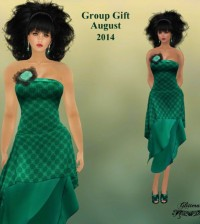 Green Dress August 2014 Group Gift by Glitterati by Sapphire - Teleport Hub - teleporthub.com