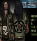 Militia Vest and Shirt August 2014 Group Gift by Lavarock Creations - Teleport Hub - teleporthub.com