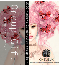 Conception Hairstyle Pink Group Gift by cheveux - Teleport Hub - teleporthub.com