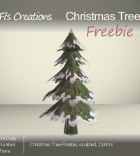 Christmas Tree Snow by Fi's Creations - Teleport Hub - teleporthub.com