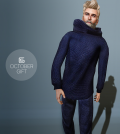 Loose Sweater and Pant For Men October 2014 Group Gift by Gizza Creations - Teleport Hub - teleporthub.com