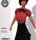 Kawai Dress Polka Dot Red White Dots Group Gift by Kaithleen's - Teleport Hub - teleporthub.com
