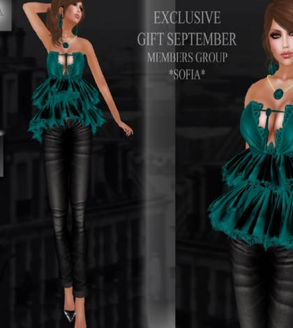 Sofia Outfit September 2014 Group Gift by MOREA Style - Teleport Hub - teleporthub.com