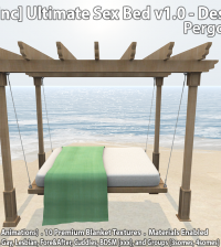 New Release: Ultimate Sex Bed v1.0 - Design 22 Pergola Bed by [satus Inc] - Teleport Hub - teleporthub.com