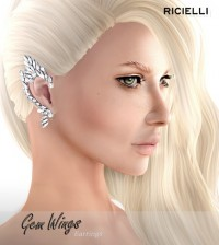 Gem Wing Earrings 1L Promo by R.icielli - Teleport Hub - teleporthub.com