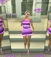 Pink Dreams Mesh Dress 1L Promo by Savoha Creations - Teleport Hub - teleporthub.com