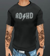 ADHD Mesh T-Shirt For Men by Hattery Design - Teleport Hub - teleporthub.com