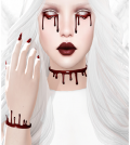 Dripping Blood Tattoo and Accessories Halloween Gift by Izzie - Teleport Hub - teleporthub.com