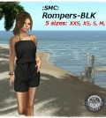 Black Romper by SMC - Teleport Hub - teleporthub.com