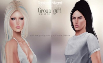 Unisex Hair with Color HUDs October 2014 Group Gift by Tableau Vivant - Teleport Hub - teleporthub.com