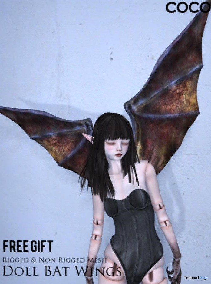Doll Bat Wings Gift by COCO Designs - Teleport Hub - teleporthub.com