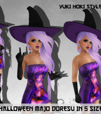 Mesh Halloween Majo Doresu October 2014 Group Gift by Yuki Hoki Styles - Teleport Hub - teleporthub.com