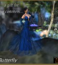 Butterfly Blue Flexi Gown by QQ Fashion - Teleport Hub - teleporthub.com