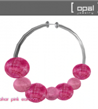 Lahar Pink Earrings Group Gift by OPAL - Teleport Hub - teleporthub.com