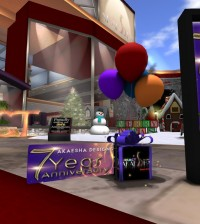 Makeout Pillow and 500L Gift Card 7th Anniversary Group Gift by Akaesha Designs - Teleport Hub - teleporthub.com